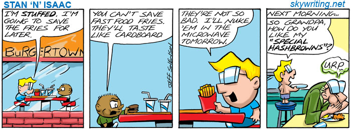 G-rated Stan 'N' Isaac comic strips are about the adventures of two young boys, for childern and adults, by Jeff Swenson.